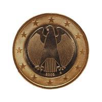 1 euromunt, europese unie, duitsland geïsoleerd over wit foto