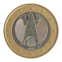 een euromunt geïsoleerd foto