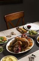 de Thanksgiving diner assortiment tafel foto