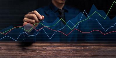 groeivooruitgang of succesconcept investeren in handelsillustratie foto