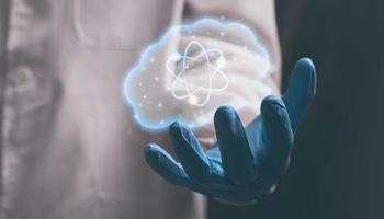 wetenschappers gebruiken hun hersens om ideeën uit te vinden foto