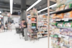 abstracte vervaging in supermarkt voor achtergrond foto