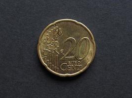 twintig cent euro munt foto
