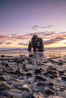 IJslands natuurlandschap. beroemde toeristische attracties, hvitserkur foto