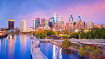 skyline van de binnenstad van Philadelphia foto