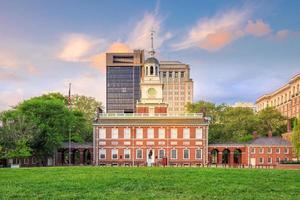 onafhankelijkheidshal in Philadelphia foto