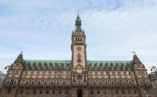 Hamburg Rathaus Stadhuis foto