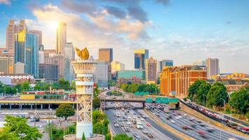 skyline van de stad Atlanta foto