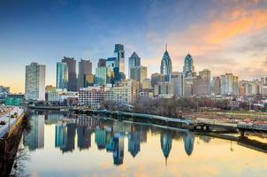 skyline van de binnenstad van philadelphia, pennsylvania usa foto