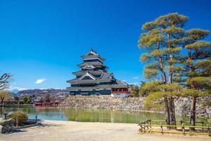 matsumoto kasteel in japan foto
