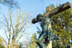 christendom religie symbool jezus beeldhouwkunst foto