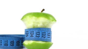 gezonde fruitappel en meting foto