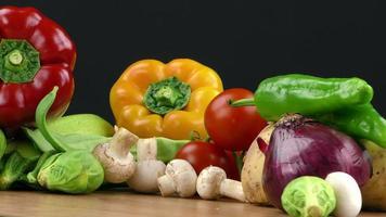 mix van gezonde biologische groente foto
