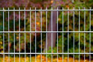 abstract architectuurontwerp van ijzeren hekken foto