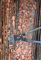 industrieel metaal ijzer bouwconcept foto