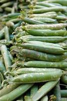 biologische rauwe groente erwt foto