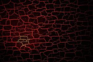 donkere houtstructuur oppervlak, lava hete kleur gebarsten en zwelling foto