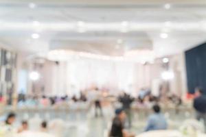abstract vervagen bruiloft in luxe hotel voor achtergrond foto