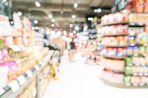abstracte onscherpte en onscherpe supermarkt voor achtergrond foto