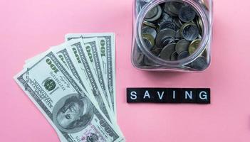 sparen voor het toekomstige concept. foto