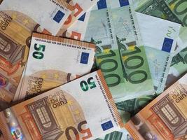 50 en 100 eurobiljetten, europese unie foto