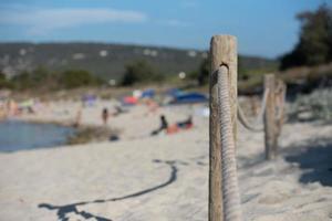 es calo strand in Formentera in de zomer van 2021. foto