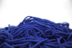 blauwe draad close-up foto