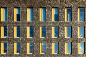 baksteen en ramen foto