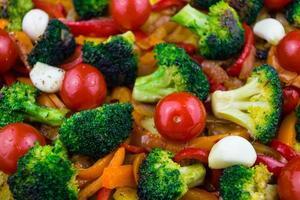 oven geroosterde groenten foto