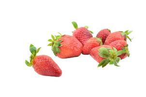 aardbeien geïsoleerd op een witte achtergrond. foto