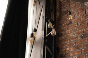 decoratieve antieke gloeilampen in Edison-stijl; foto