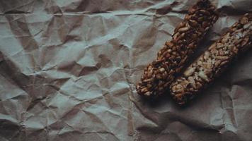 huisgemaakte volkoren koekjes met havermout foto