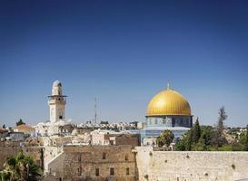 al aqsa beroemde moskee-oriëntatiepunt in de oude stad van Jeruzalem, Israël foto