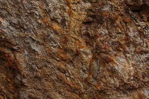 ruwe ruwe steen oppervlak bruine kleur foto