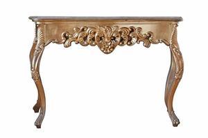 antiek houten bureau met vergulding foto