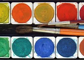 kleuren en penselen foto