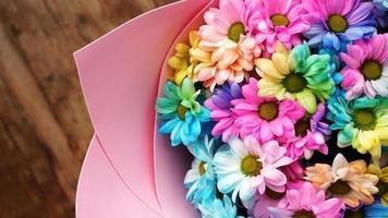 close-up bloesem regenboog bloemen boeket foto