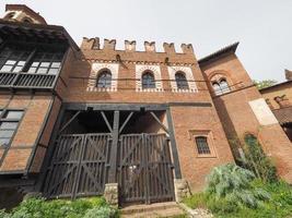 middeleeuws kasteel in turijn foto