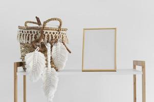 het arrangement macramé handgemaakt object foto