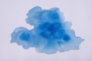 het platliggende aquarelpapier foto