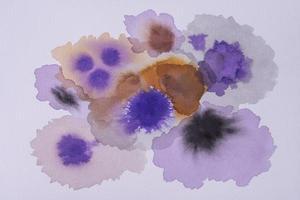 bovenaanzicht aquarelverf papier foto