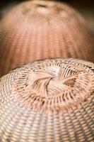 thailand traditionele handgemaakte rieten mand textuur. foto