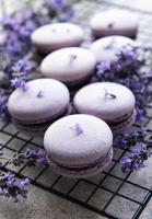 franse macarons met lavendelsmaak foto