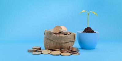 concept investeringen voorraad financiën groei geld besparen foto