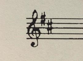 bladmuziek partituur foto