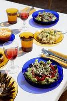 het traditionele gulas gerecht arrangement foto