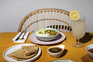 de Indiase heerlijke roti-arrangementen? foto