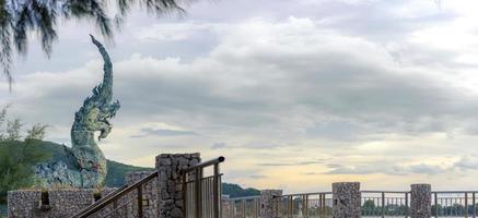 groengeroeste koperen slang van songkhla foto