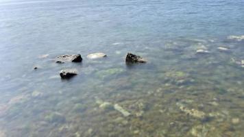 kustkliffen en zeegezicht foto