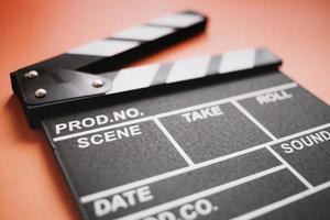 Filmklapper close-up. resolutie en mooie foto van hoge kwaliteit
